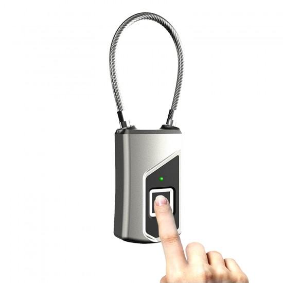 Smart Locks Waterproof Fingerprint Lock with USB Port Anti Theft Keyless Digital Padlock