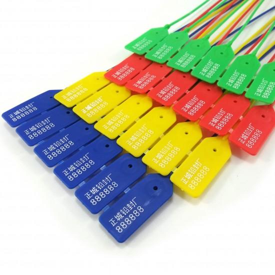 100pcs Security Seal Tags Tamper Proof Zip Ties Fire Extiguisher Label