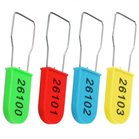 100pcs Anti Tamper Seals Security Tag Padlock Seal Fastener with Numbered