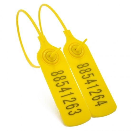 Pull-tite Plastic Self-Locking Seals Security Tag Ties Disposable Loop Label - 100pcs