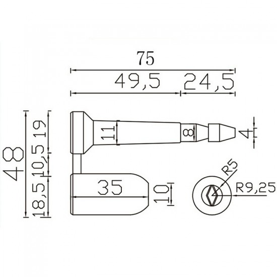 ISO 17712 High Security Bolt Seals (Pack of 10 PCS)