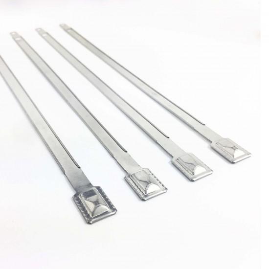 Tamper Resistant Flat Metal Seals (Pack of 100Pcs)