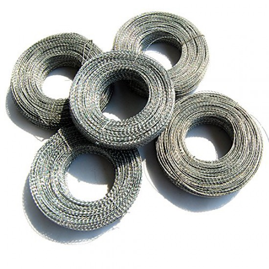 Twist Plastic Meter Seals (Pack of 100) with stainless steel wire (100m)
