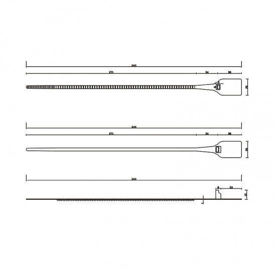 New Style Ladder Pull-Tight Plastic Seals (Pack of 100)