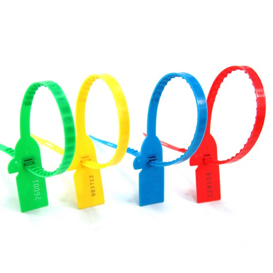Plastic Seal Pull Tight Cord Ties Shipping Seals Tamper Proof Lable Fasteners for Truck Door